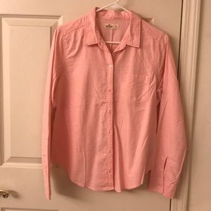Hollister Pink Button-Up